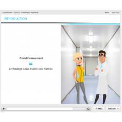Formation e-learning production conditionnement pharmaceutique BPF