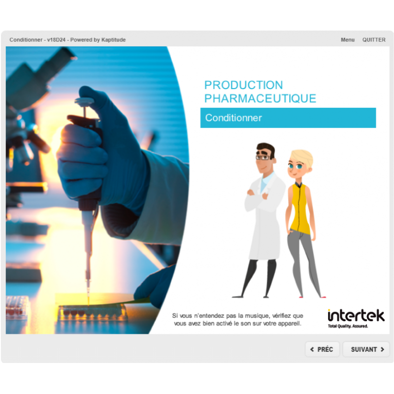 Formation e-elearning production conditionnement pharmaceutique BPF