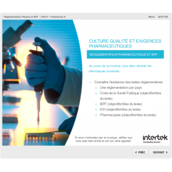 Formation e-learning qualité BPF réglementation pharmaceutique