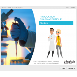 Formation e-learning production pharmaceutique maintenance des équipements