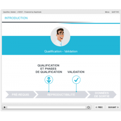 Formation e-learning production qualification validation opérations pharmaceutiques