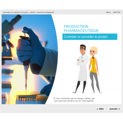 Formation e-learning contrôle en production pharmaceutique