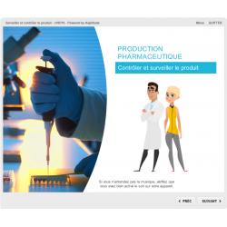 Formation e-learning contrôle en production pharmaceutique