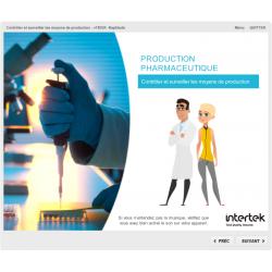 Formation e-learning contrôle moyens de production pharmaceutiques