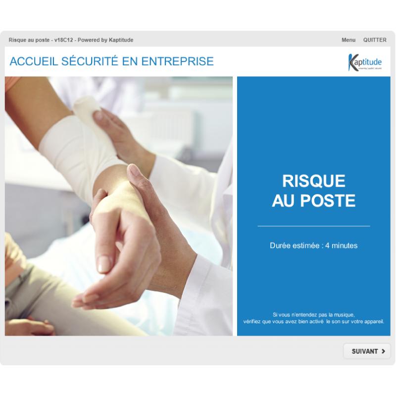 Formation e-learning HSE sécurité prévention risques sur site pharmaceutique