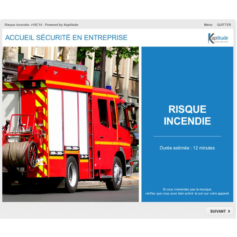 Formation e-learning HSE prévention risques incendie sur site pharmaceutique