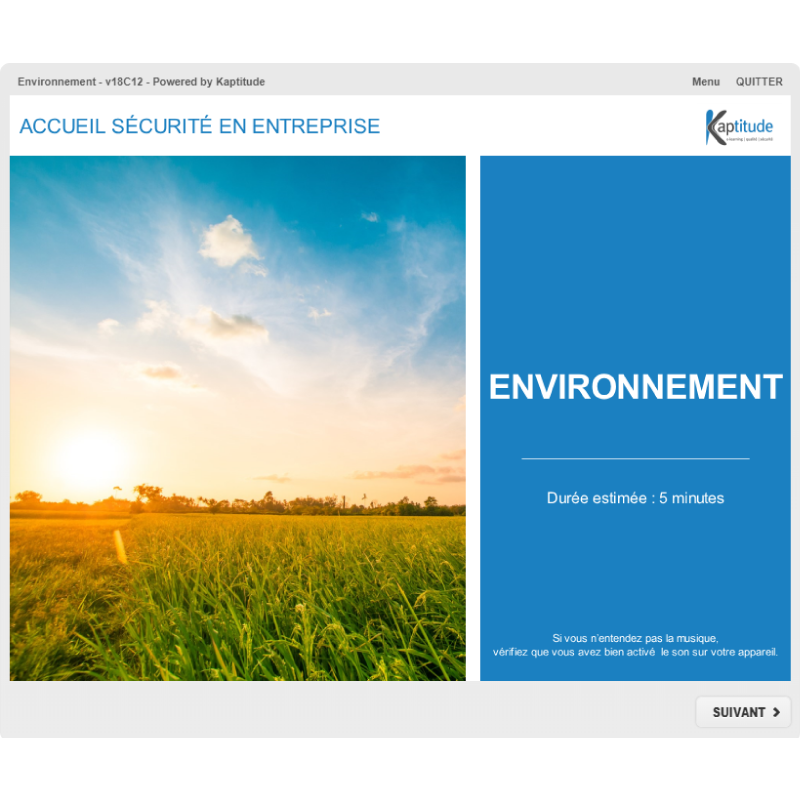 Formation e-learning HSE minimiser impact environnement industrie pharmaceutique