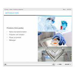 Formation e-learning production industrie pharmaceutique